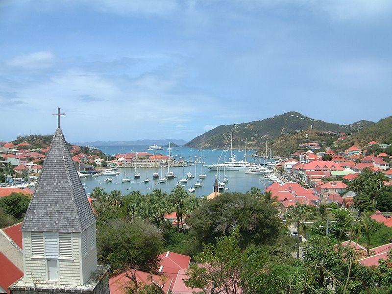 caribbean harbor with boats