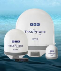 TracPhone V-IP series marine VSAT systems from KVH