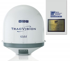 marine satellite TV system