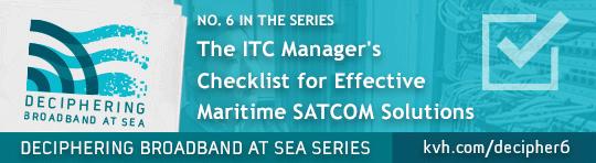 KVH Deciphering Broadband maritime SATCOM solutions